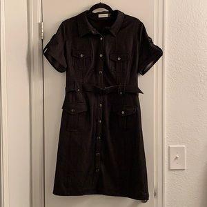 Calvin Klein Denim Belted Shirt Dress